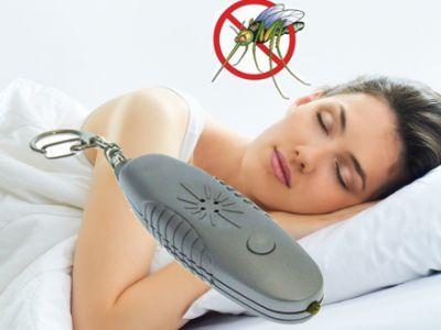 Ключодържател с ултразвук против комари и Led лампичка 3 в 1