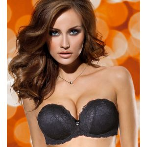 Сутиен бриджитка LORMAR EXTRA Double Pizzo PUSH UP +2 размера
