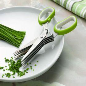 Ножица с 10 остриета за свежи подправки и зеленчуци