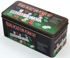 Комплект за покер правоъгълник