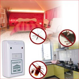 Без хлебарки и насекоми! Ултразвуков унищожител на хлебарки, гризачи, мравки Riddex