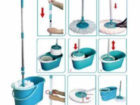 SPIN MOP - Mагически моп с центруфуга за пране и изтискване!