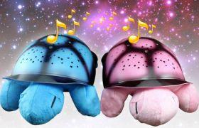 Светеща музикална детска нощна лампа костенурка с успокояващи мелодии