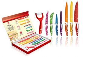 Професионален Швейцарски Комплект Ножове с Незалепващо покритие