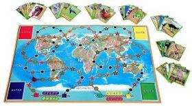 """Образователна семейна игра """"Животните по света"""""""