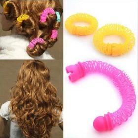 Супер ефектни безвредни ролки за коса спирали! Без горене на косата!